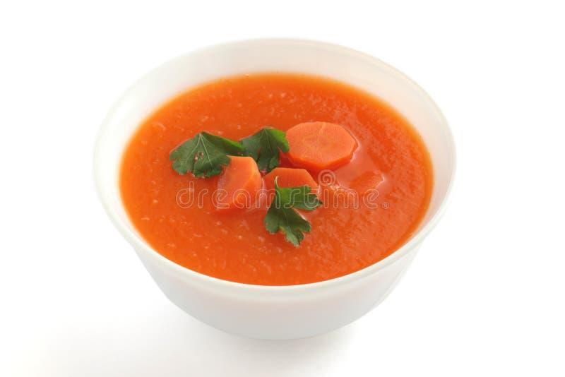 Sopa de la zanahoria con perejil foto de archivo