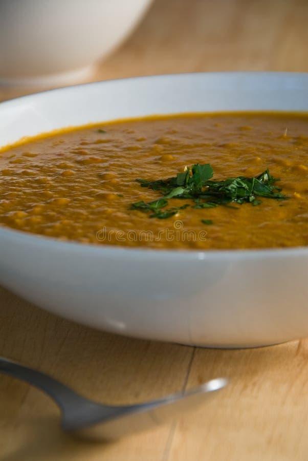 Sopa de lentilha vermelha imagens de stock royalty free