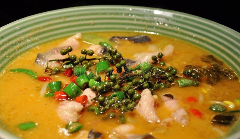 Sopa de los pescados fotografía de archivo