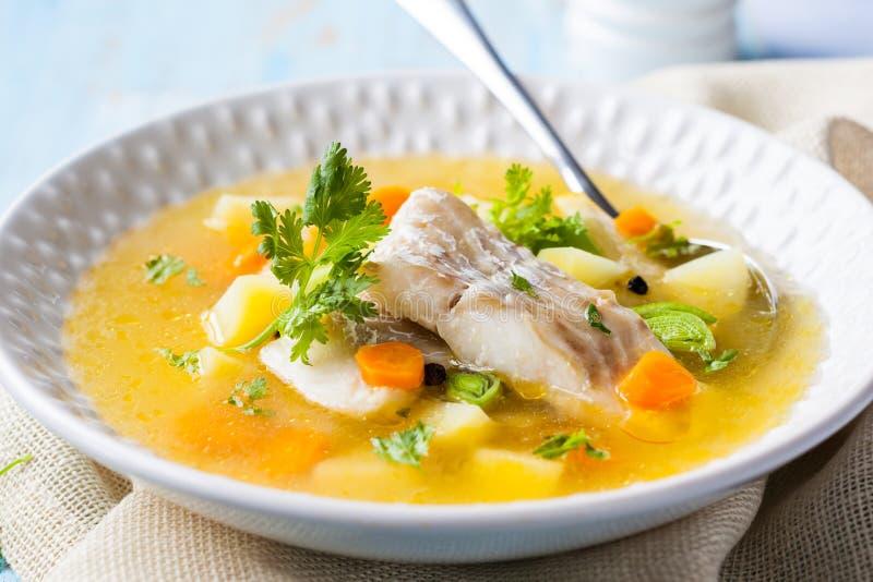 Sopa de los pescados fotos de archivo