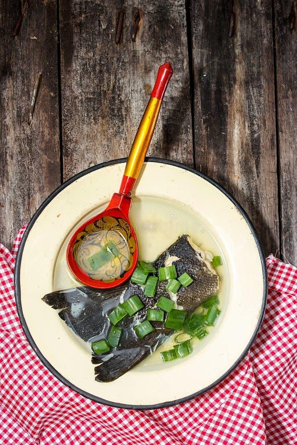 Download Sopa de los pescados imagen de archivo. Imagen de trucha - 44852831