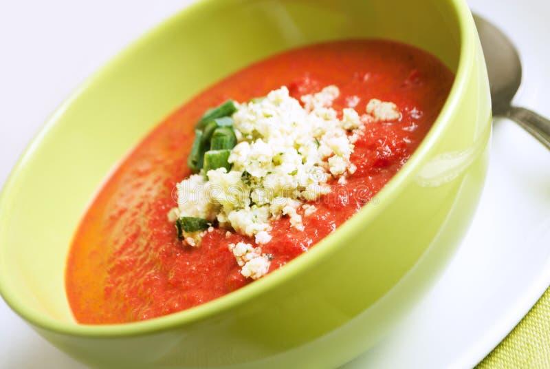 Sopa de los tomates imagenes de archivo