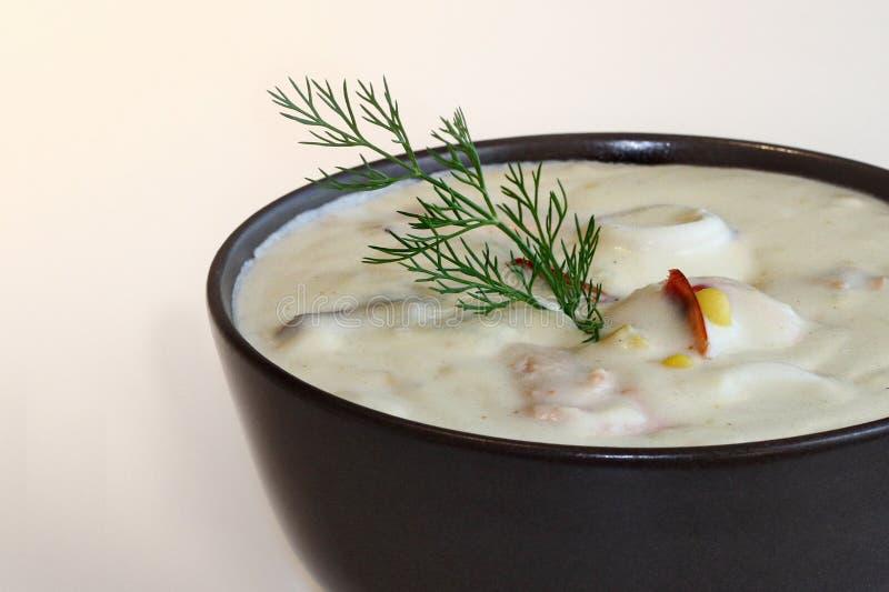 Sopa de mariscos imagen de archivo libre de regalías