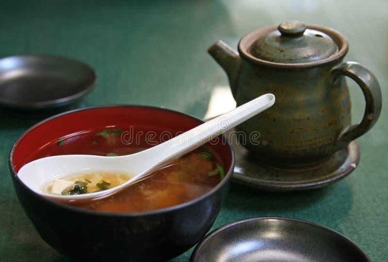 Sopa de Miso fotos de archivo