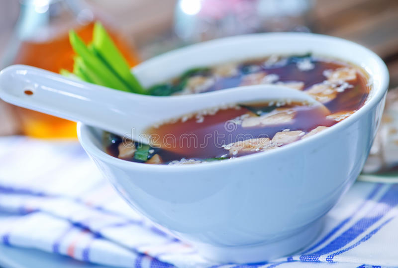 Sopa de Miso fotos de stock royalty free