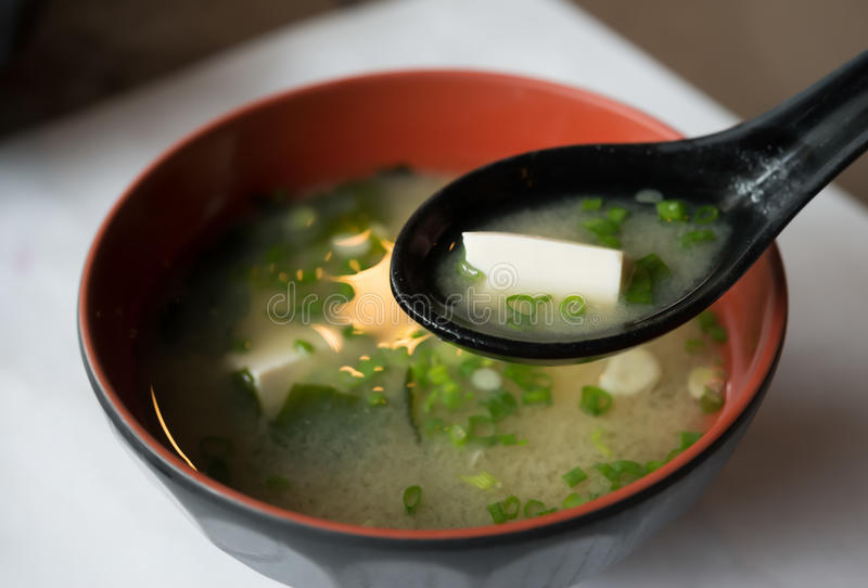Sopa de Miso imagenes de archivo