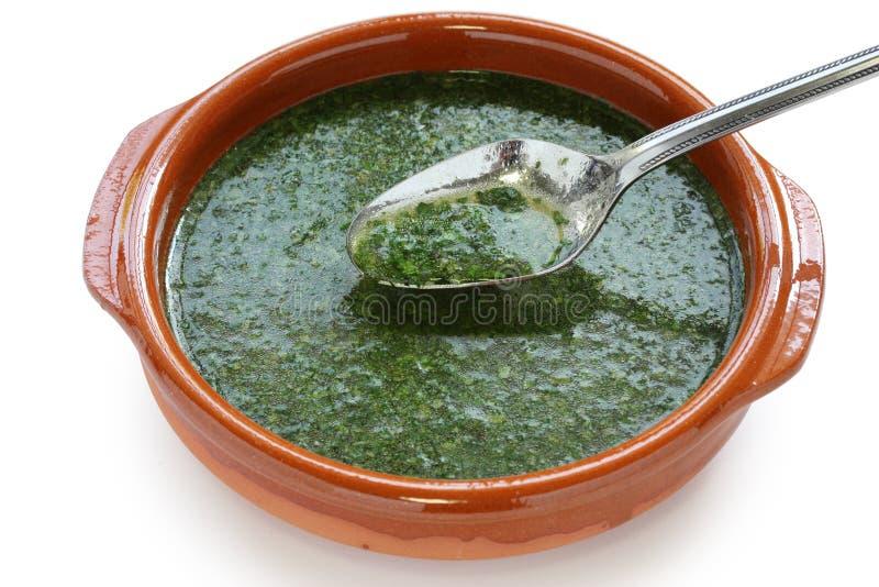 Sopa de Molokhia imagem de stock royalty free