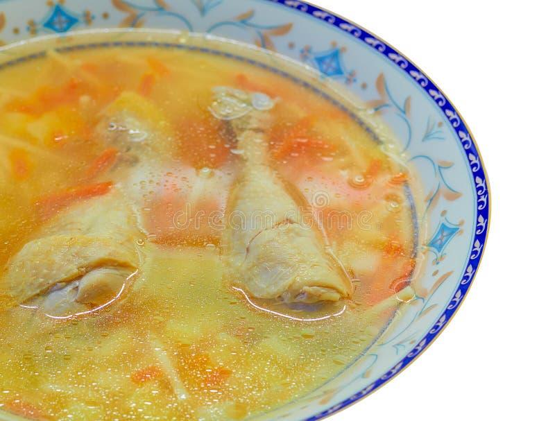 Sopa de pollo hecha en casa imágenes de archivo libres de regalías