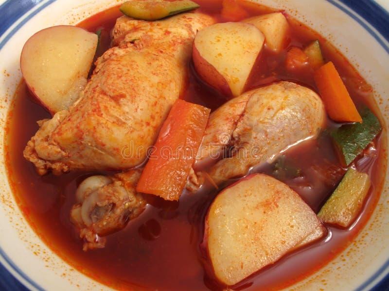 Sopa de pollo mexicana picante imagenes de archivo