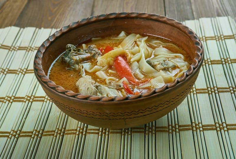 Sopa de pollo rumana fotos de archivo