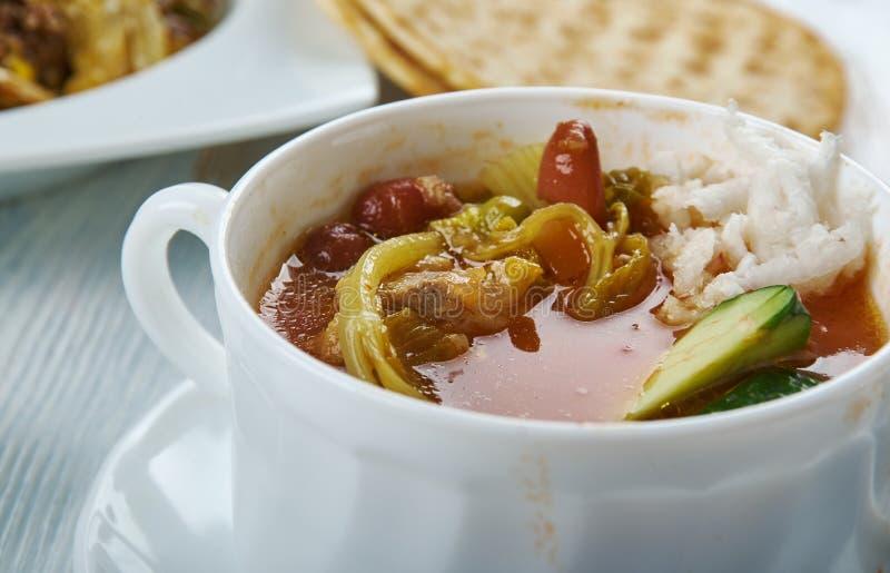 Sopa de pollo de Tex-Mex foto de archivo