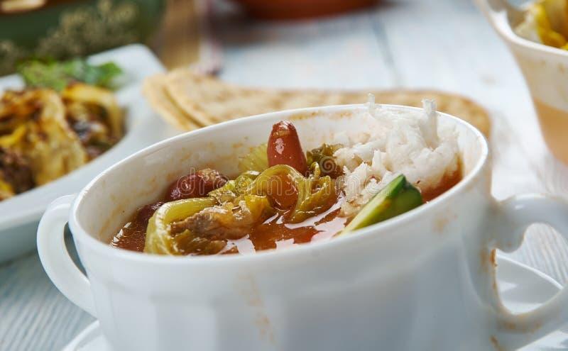 Sopa de pollo de Tex-Mex fotos de archivo libres de regalías