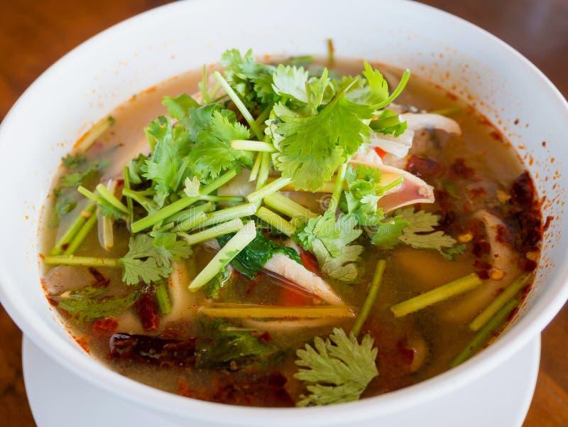 Sopa de Tom Yum foto de archivo