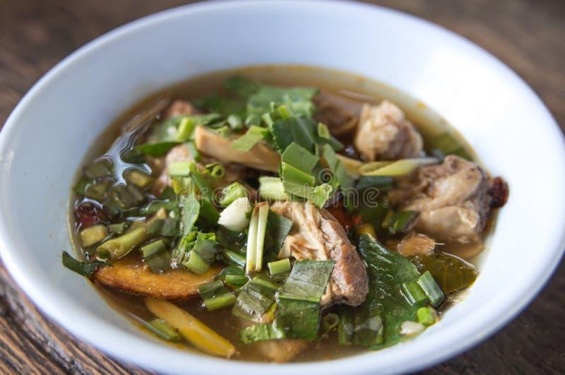 Sopa de Tom Yum, alimento de Tailandia fotografía de archivo libre de regalías
