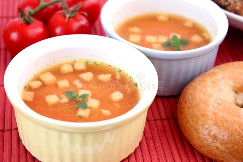 Sopa de tomates imágenes de archivo libres de regalías