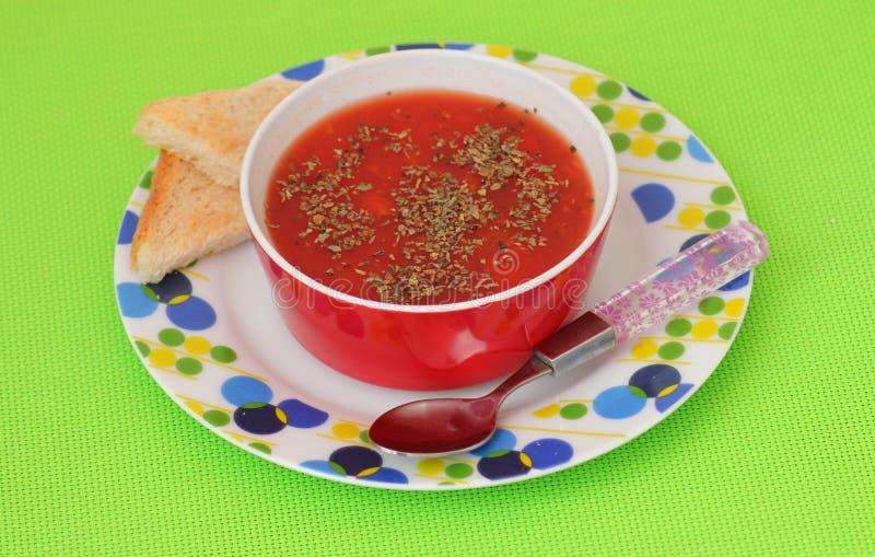 Sopa de tomates imagenes de archivo