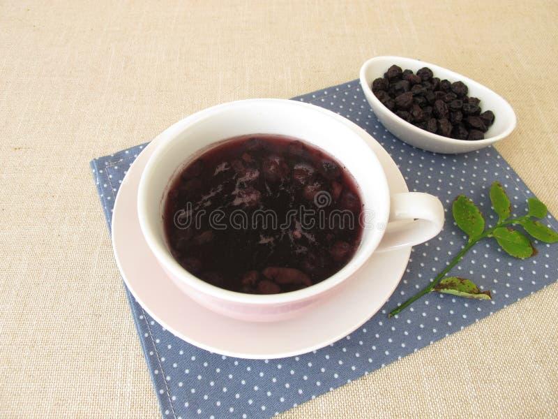 Sopa del arándano de los arándanos secados imagen de archivo