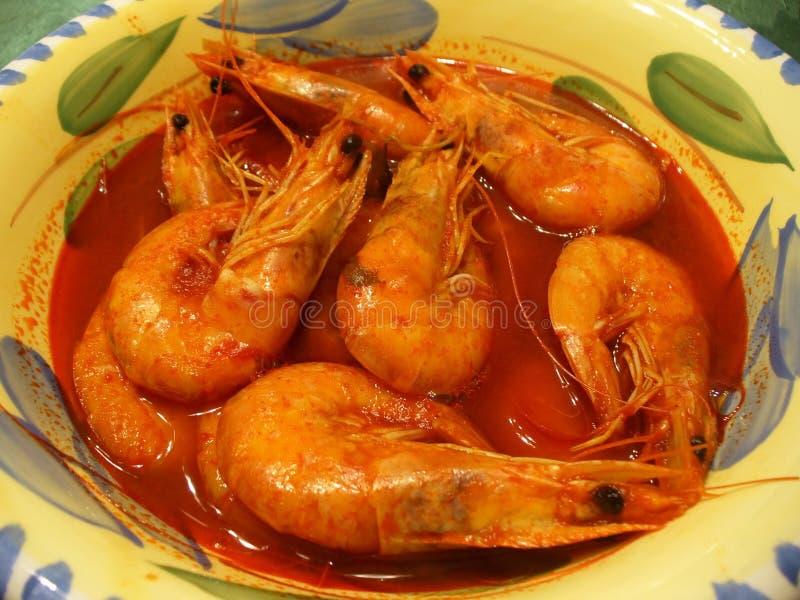 Sopa del camarón imagen de archivo libre de regalías