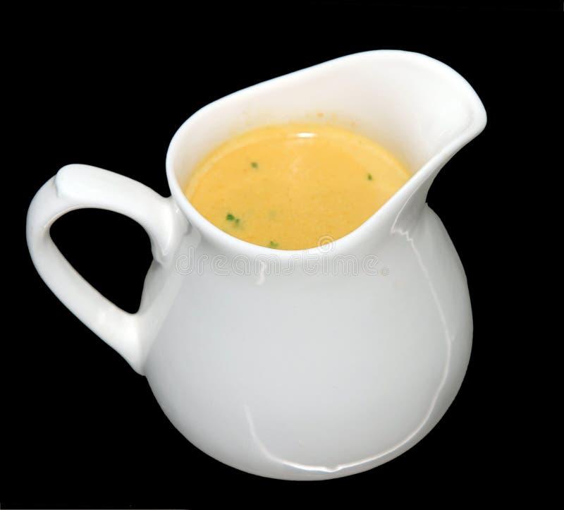 Sopa del maíz dulce imagenes de archivo