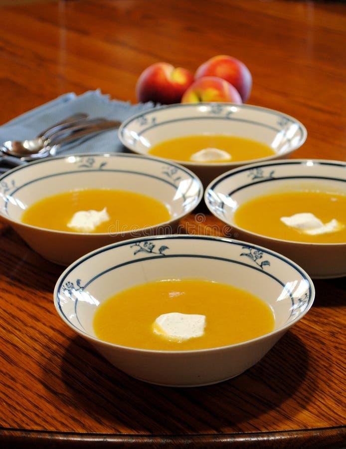 Sopa del melocotón fotos de archivo