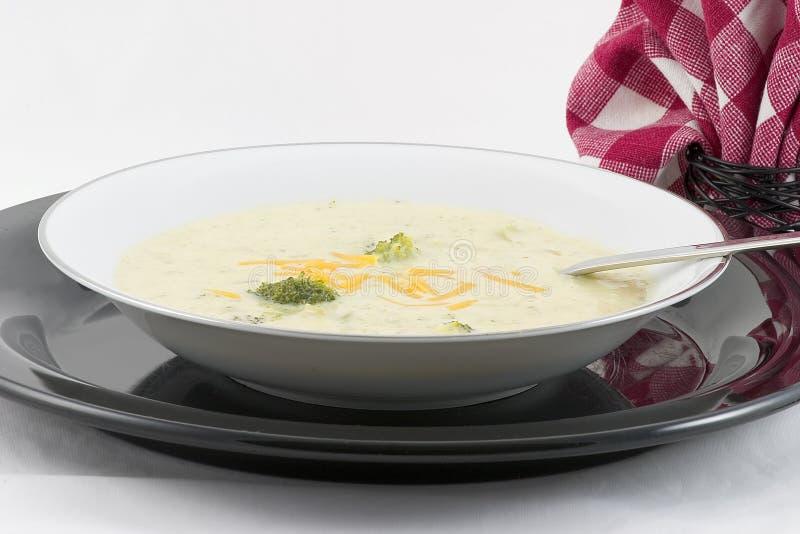 Sopa del queso del bróculi   fotografía de archivo libre de regalías