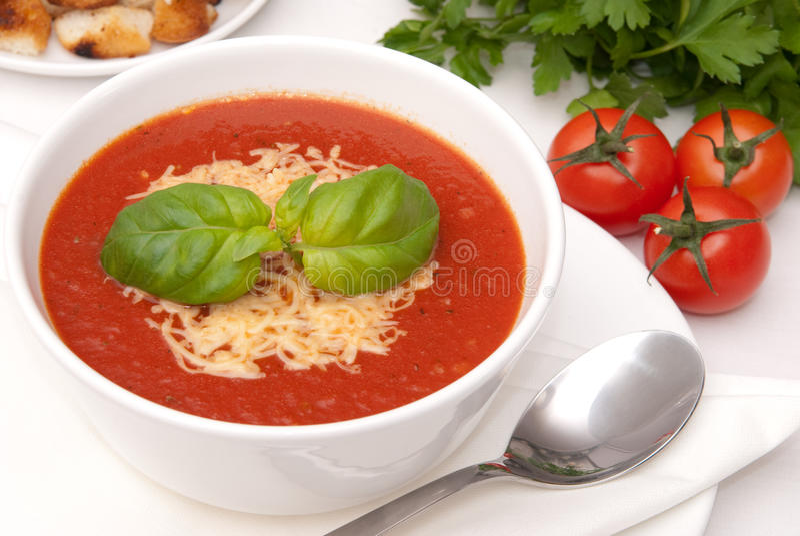 Sopa del tomate fotos de archivo libres de regalías
