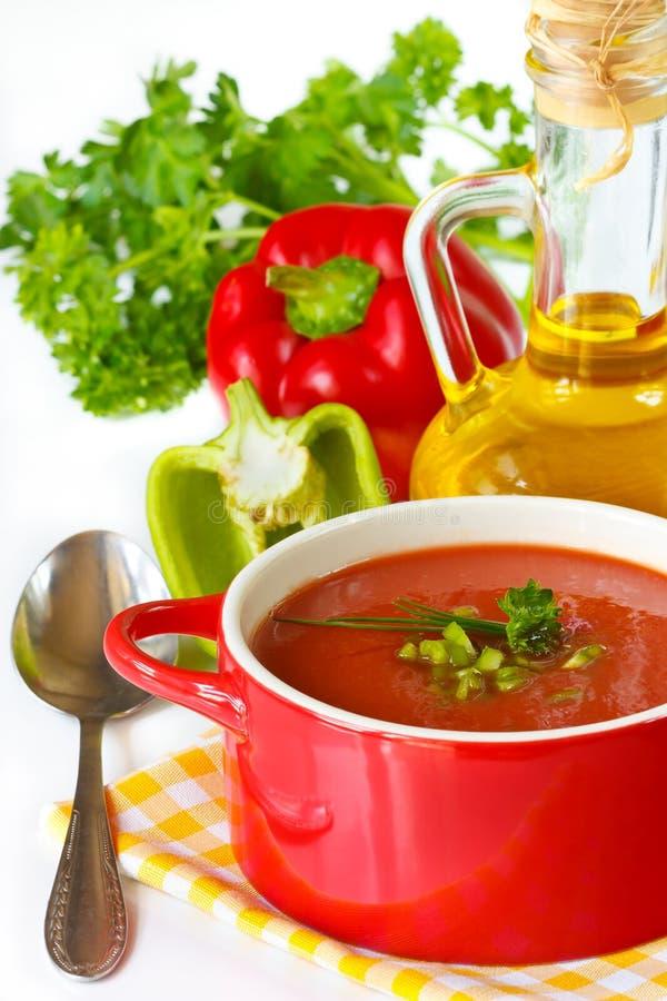 Sopa del tomate. imágenes de archivo libres de regalías