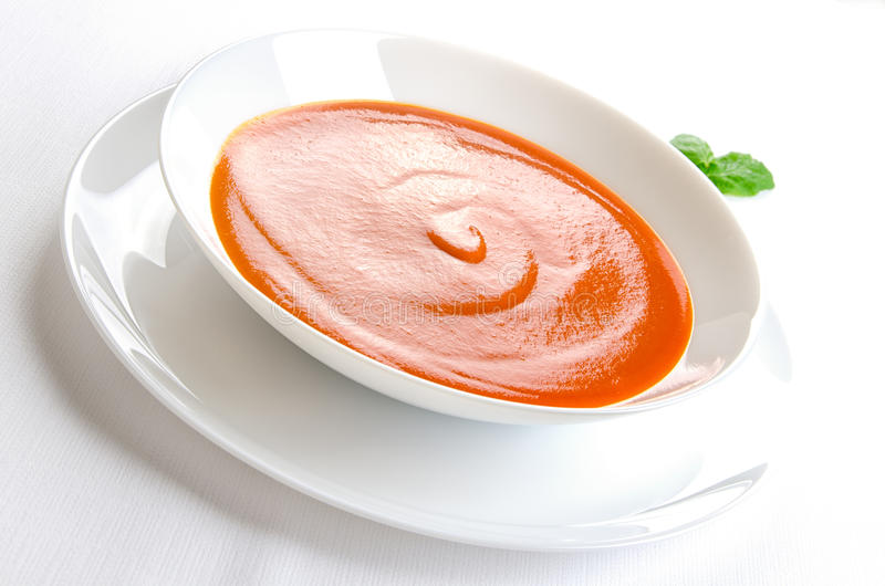 Sopa del tomate fotografía de archivo