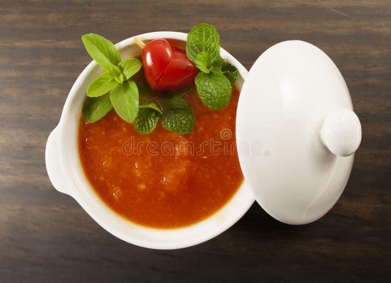 Sopa del tomate. foto de archivo libre de regalías