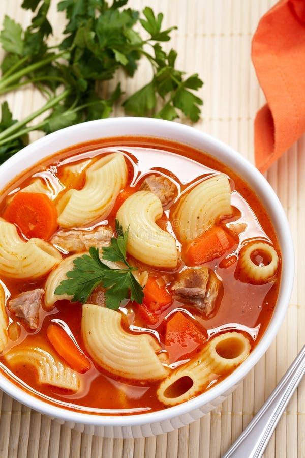 Sopa del tomate foto de archivo libre de regalías