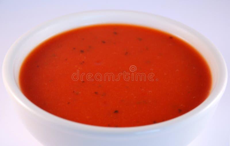 Download Sopa del tomate imagen de archivo. Imagen de bowl, hierbas - 7280205