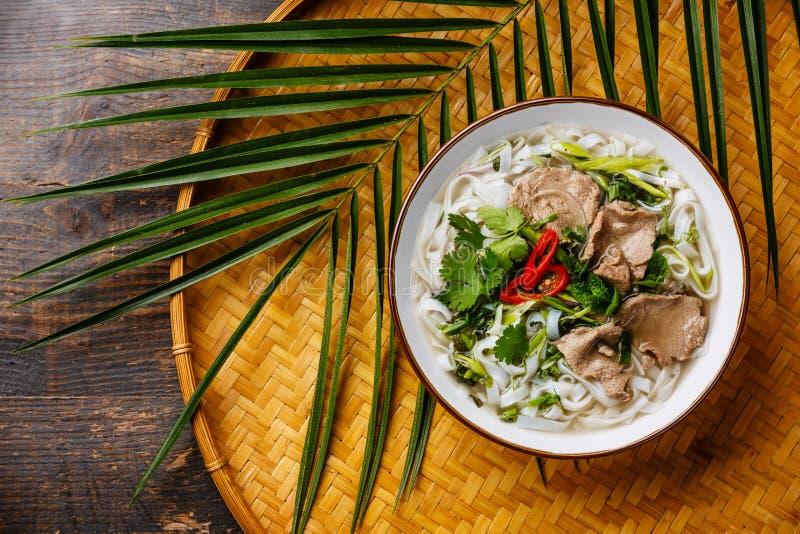 Sopa del vietnamita de Pho BO imagen de archivo libre de regalías
