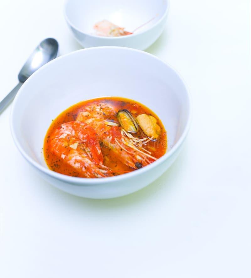 Sopa do alimento de mar imagem de stock