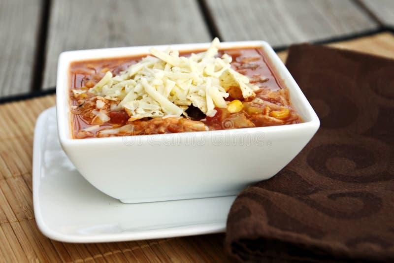 Sopa do Enchilada da galinha fotos de stock