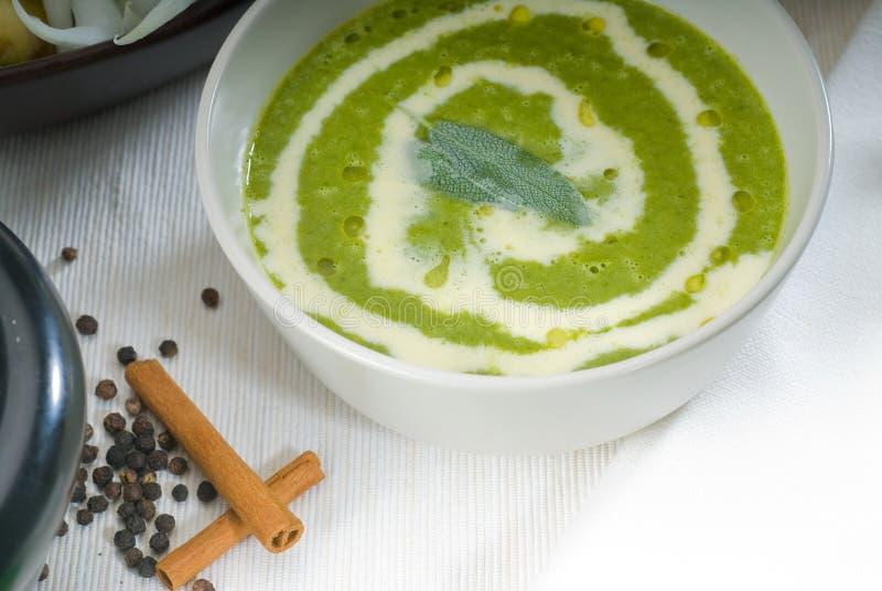 Sopa do espinafre foto de stock royalty free