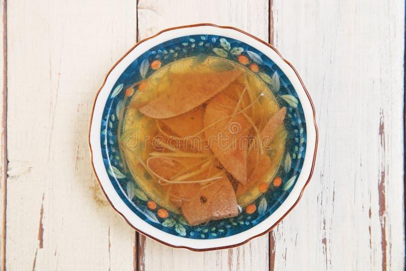 Sopa do fígado de porco imagem de stock royalty free