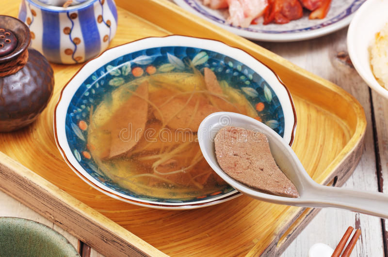 Sopa do fígado de porco fotos de stock royalty free