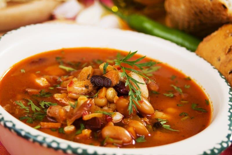 Sopa do feijão-roxo fotografia de stock