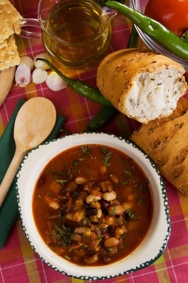 Sopa do feijão-roxo fotos de stock royalty free