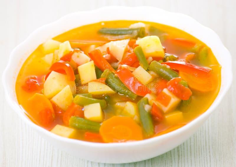 Sopa do legume fresco fotografia de stock
