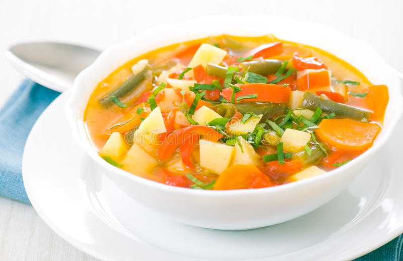 Sopa do legume fresco foto de stock royalty free