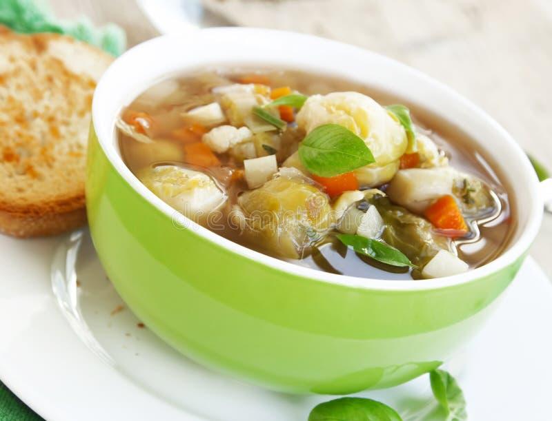 Sopa do legume fresco foto de stock