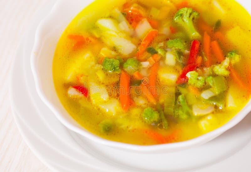 Sopa do legume fresco imagem de stock royalty free