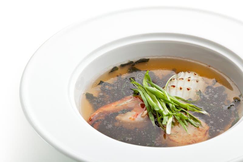 Sopa do marisco fotografia de stock royalty free