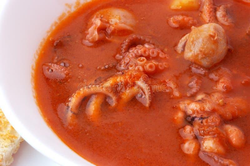 Sopa do marisco fotos de stock