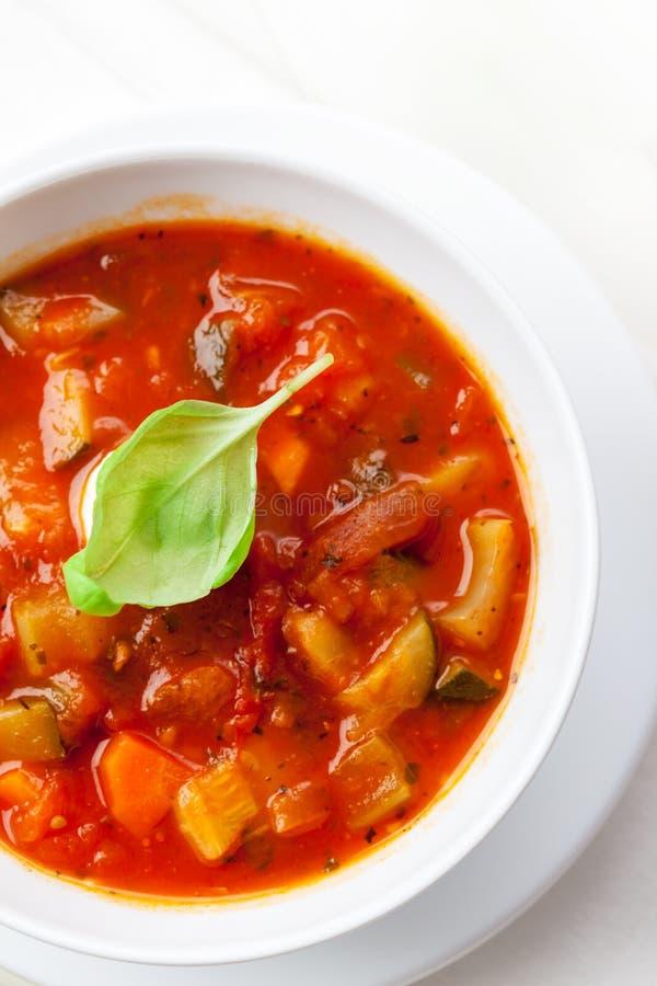 Sopa do Minestrone fotos de stock