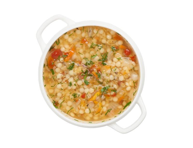 Sopa do minestrone fotos de stock royalty free