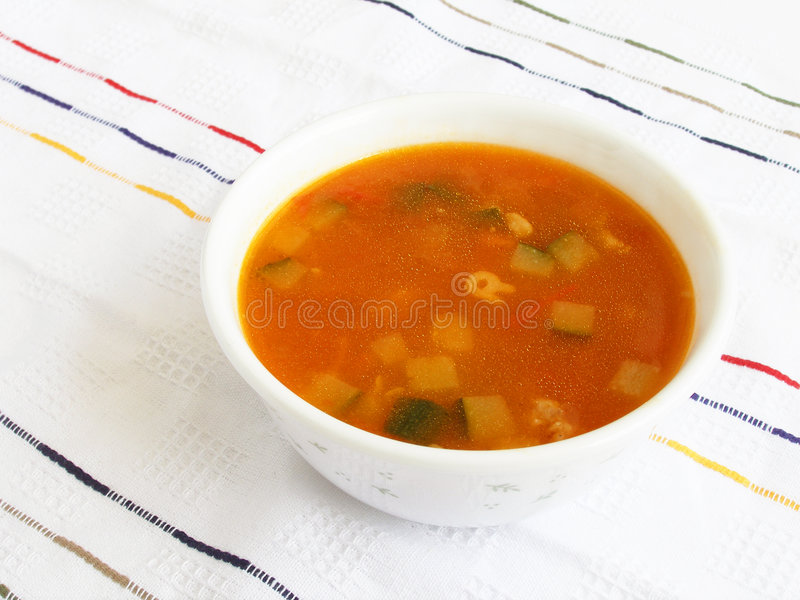 Sopa do tomate dos vegetais fotos de stock royalty free