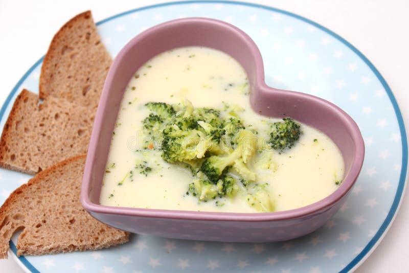 Sopa dos brócolos imagens de stock