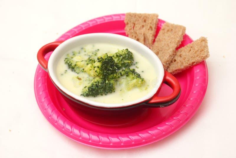 Sopa dos brócolos imagem de stock